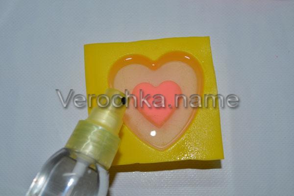 Мастер класс по изготовлению мыла в виде сердца
